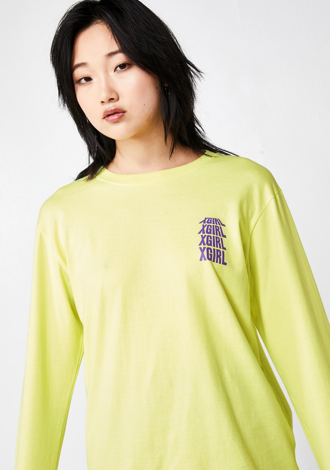 x-Girl Riot Grrrl Long Sleeve Regular Tee