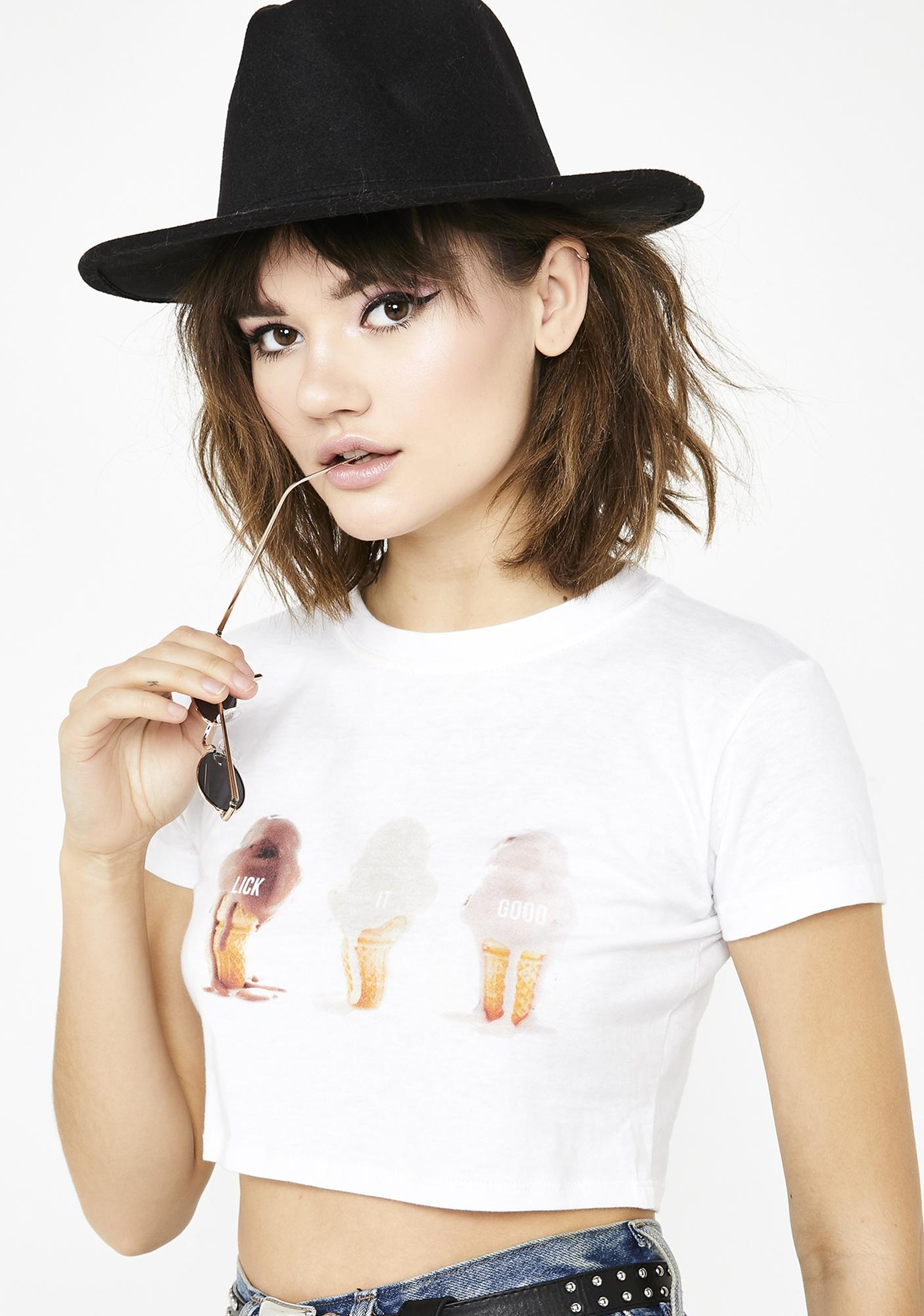 Untitled & Co Lick It Good Cropped Tee