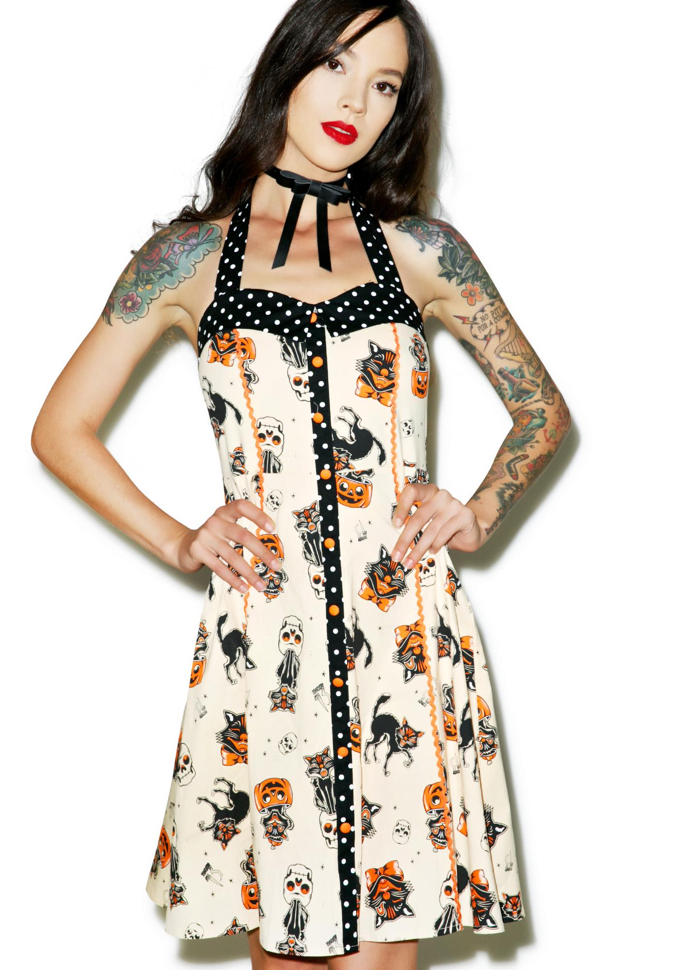 Sourpuss Clothing Black Cats Peggy Dress