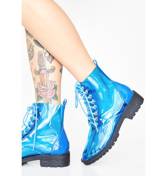 Sky Clear Views Lace Up Boots