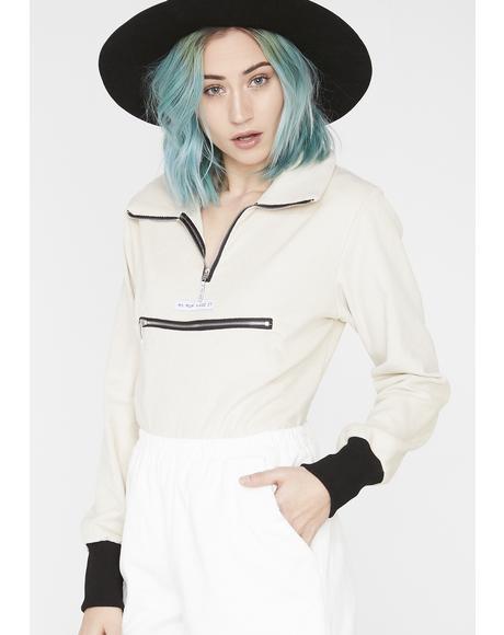 Corduroy Collar Bodysuit
