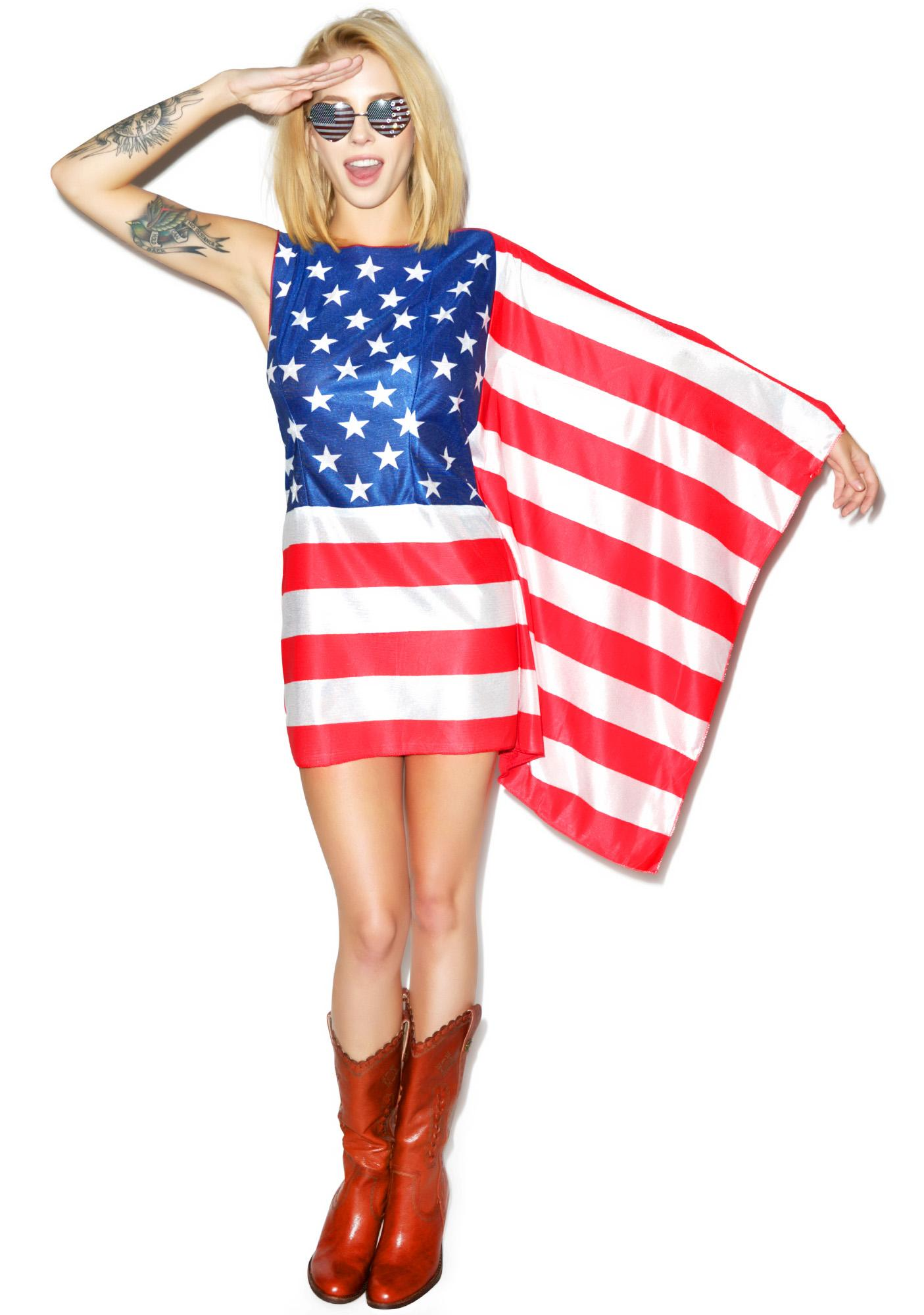 Miss Murrica Flag Dress