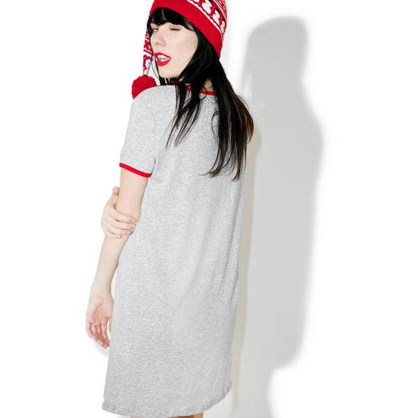 Mink Pink Early Bird Tee Dress