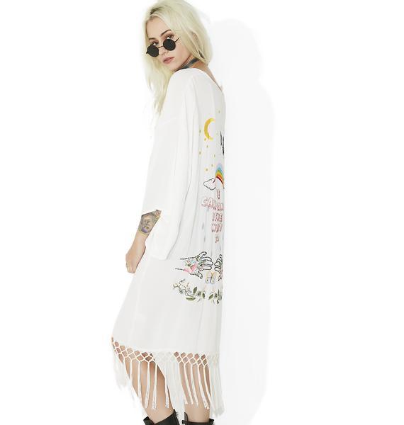 Dancing Queen Embroidered Kimono