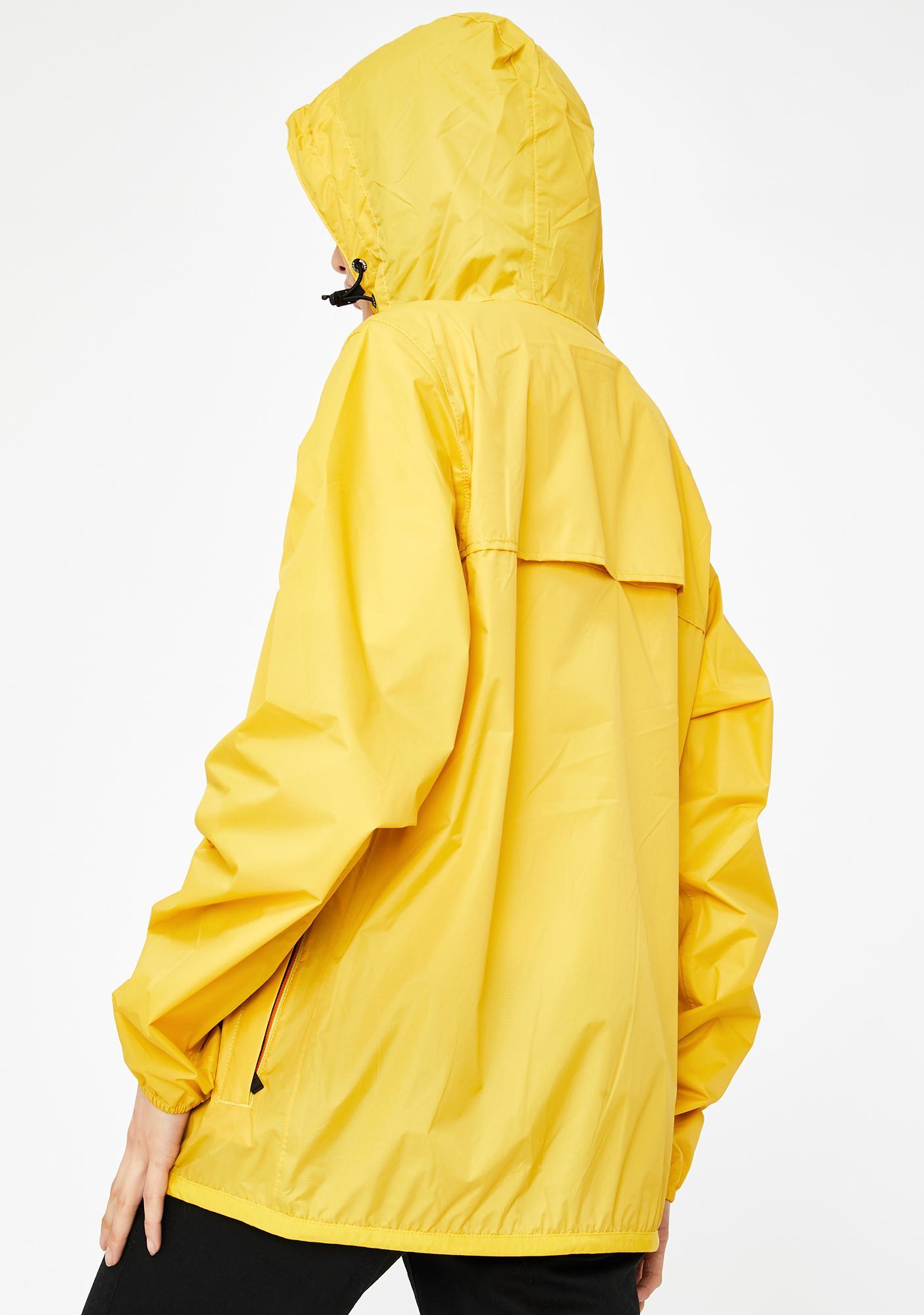 K-Way Yellow Le Vrai Claude 3.0 Windbreaker