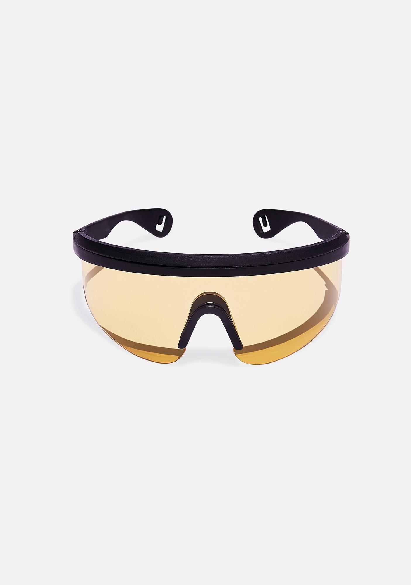 Good Times Eyewear Yellow Runner Sunglasses