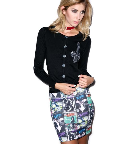 Kreepsville 666 Elvira Comic Cover Mini Skirt