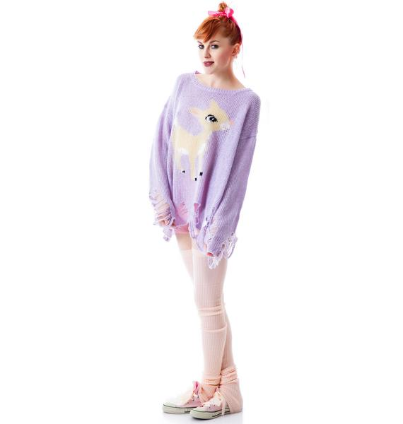 Wildfox Couture Rudolph Lennon Sweater