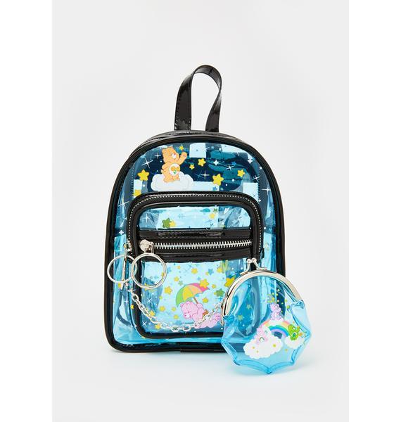 Dolls Kill x Care Bears Clearly A Dreamer Mini Backpack Set