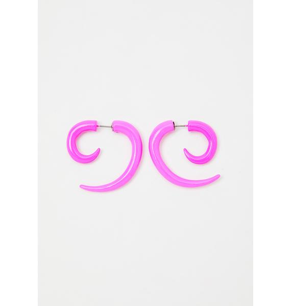 Sweet Chaotic Night Spiral Earrings