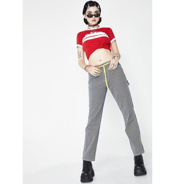 Dickies Girl Hickory Stripe Carpenter Pants