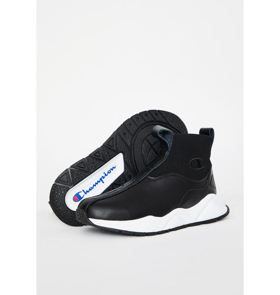 Champion Black Rally LTW Sock Sneakers