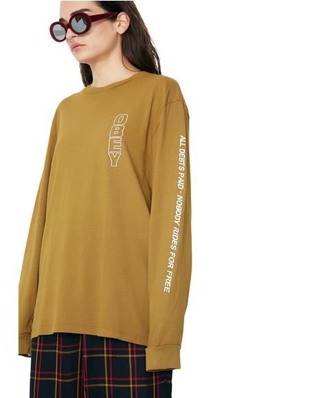 Hard Times Basic Pigment Long Sleeve Tee