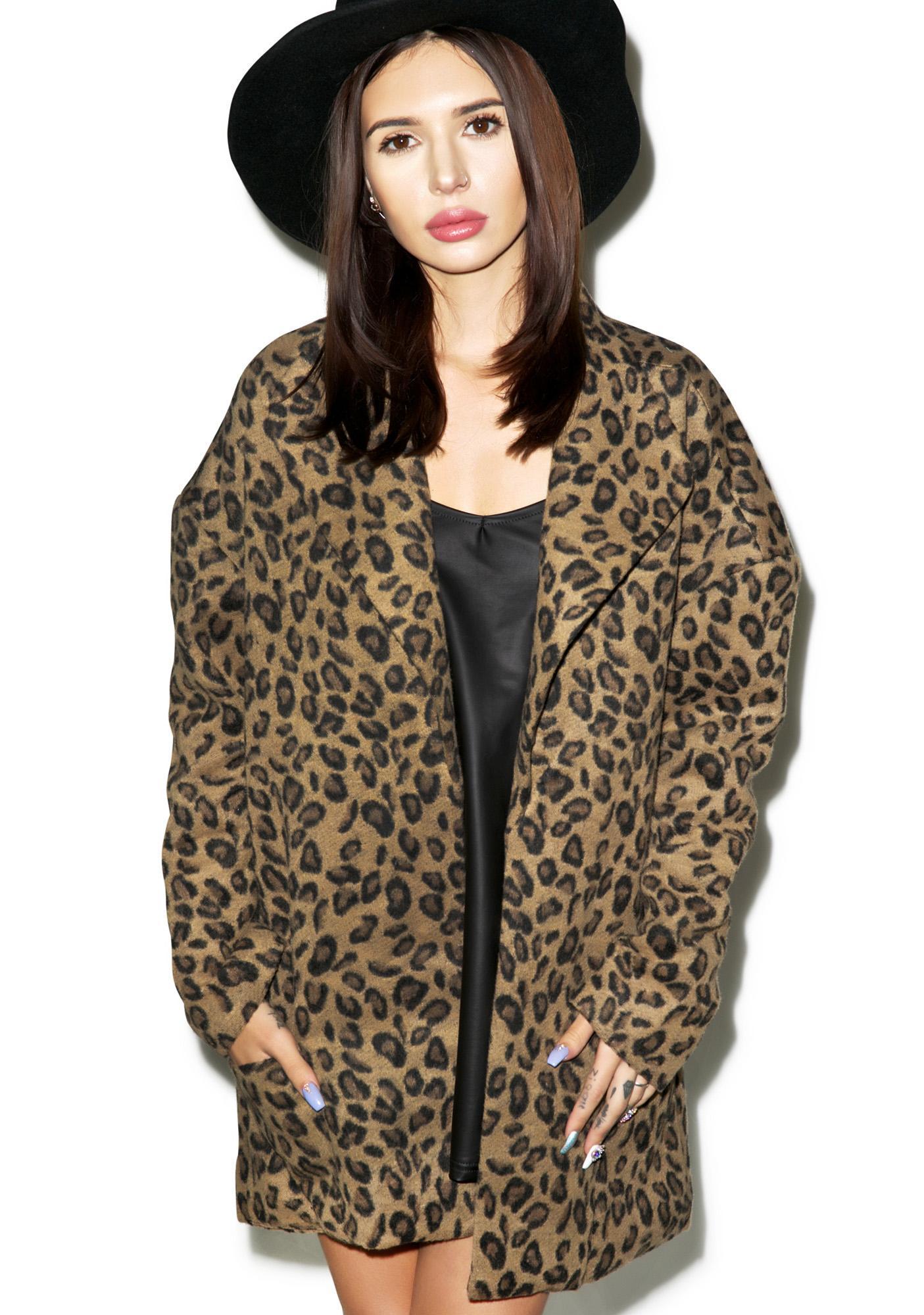 Somedays Lovin Dangers Leopard Coat