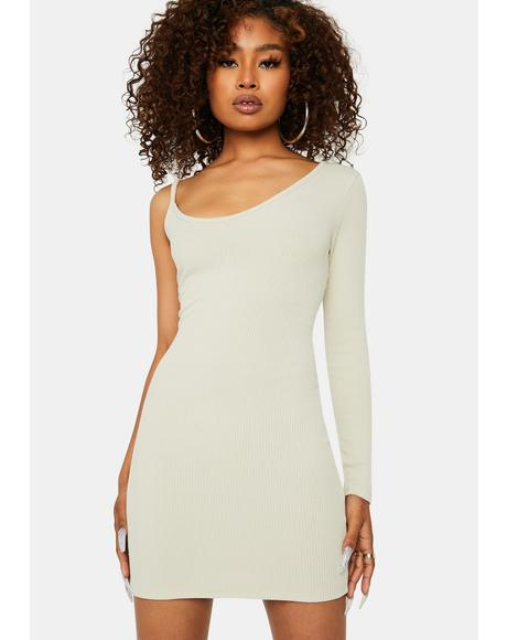 Blanc Too Annoyed One Sleeve Bodycon Mini Dress