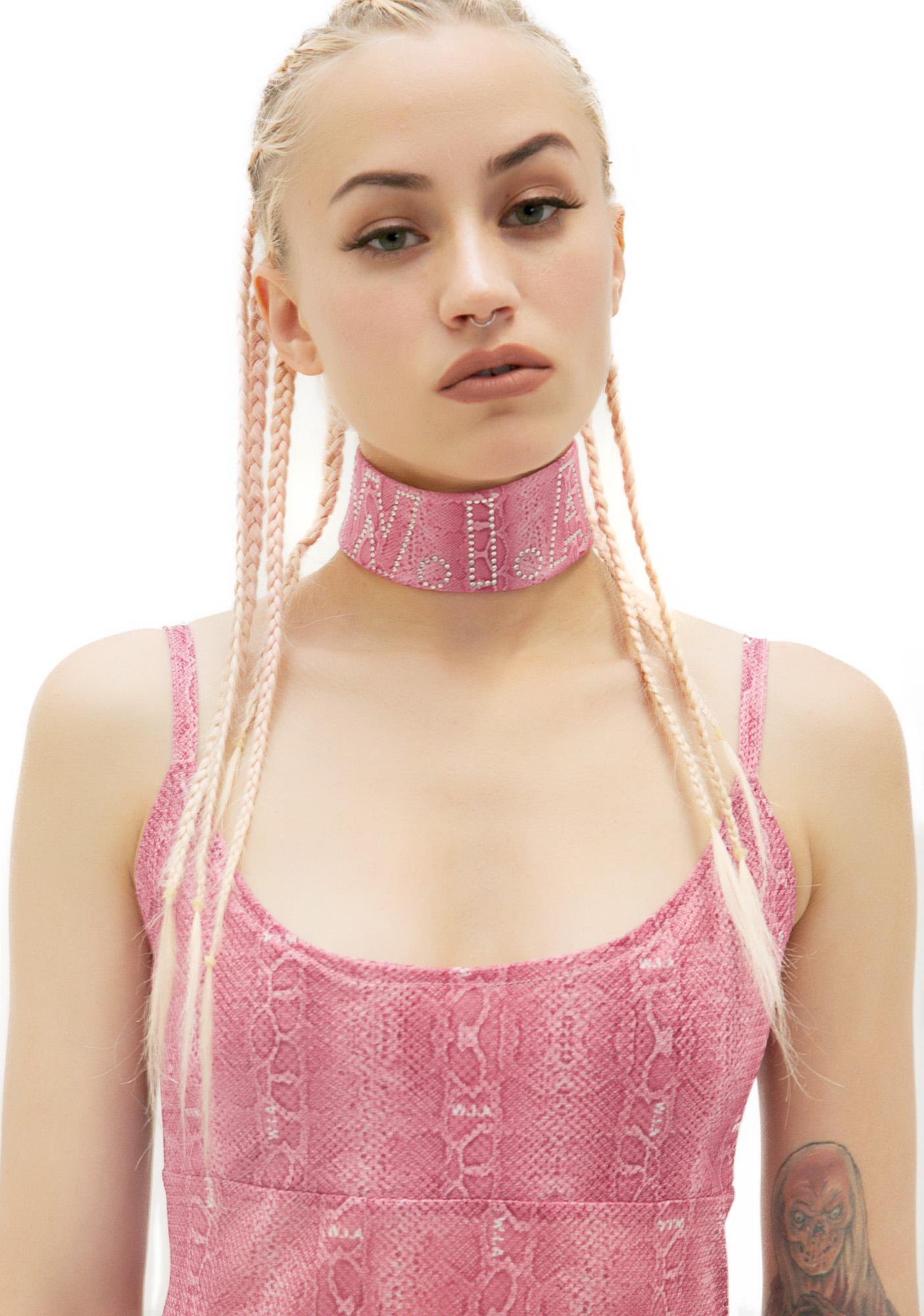 W.I.A Pink Vipera Collar