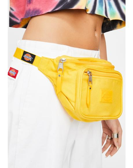 Yellow Canvas Hip Sack