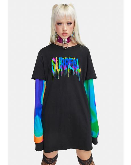 Electric Trip Layered Graphic Tee