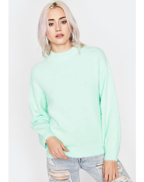 Mint Keep It Simple Knit Sweater