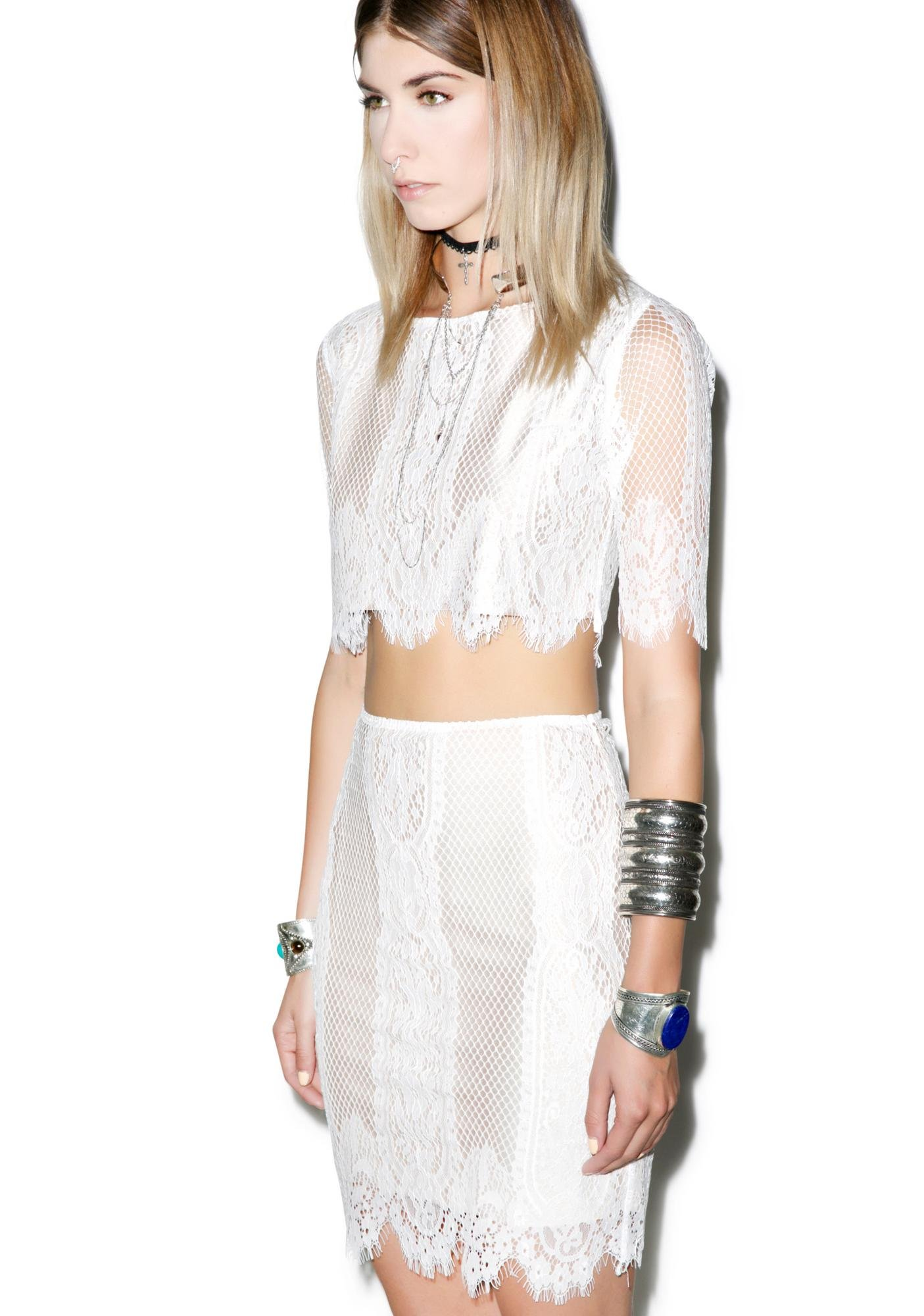 Caged Songstress Lace Skirt
