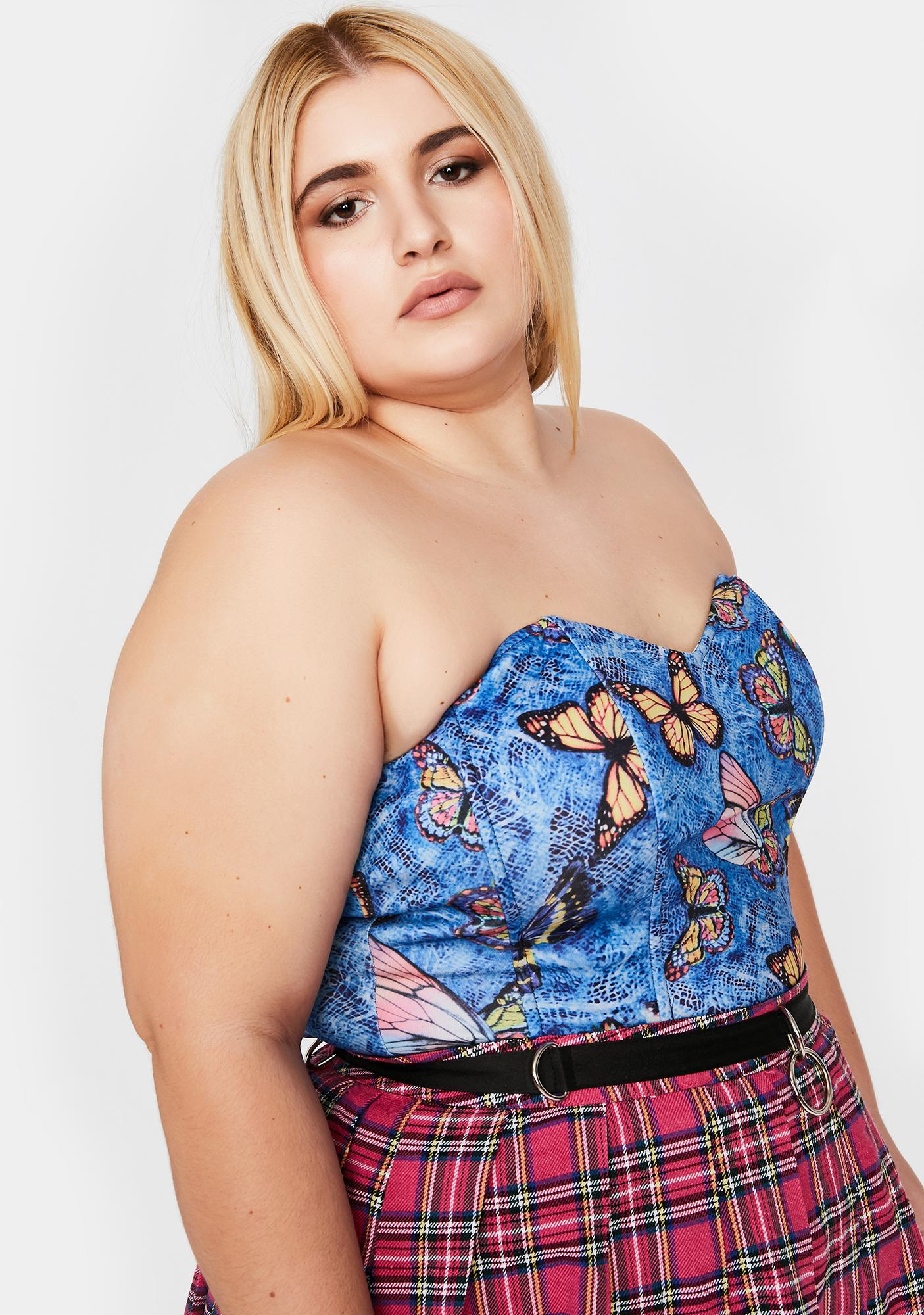 Royal Goin' Straight To Bliss Corset Top