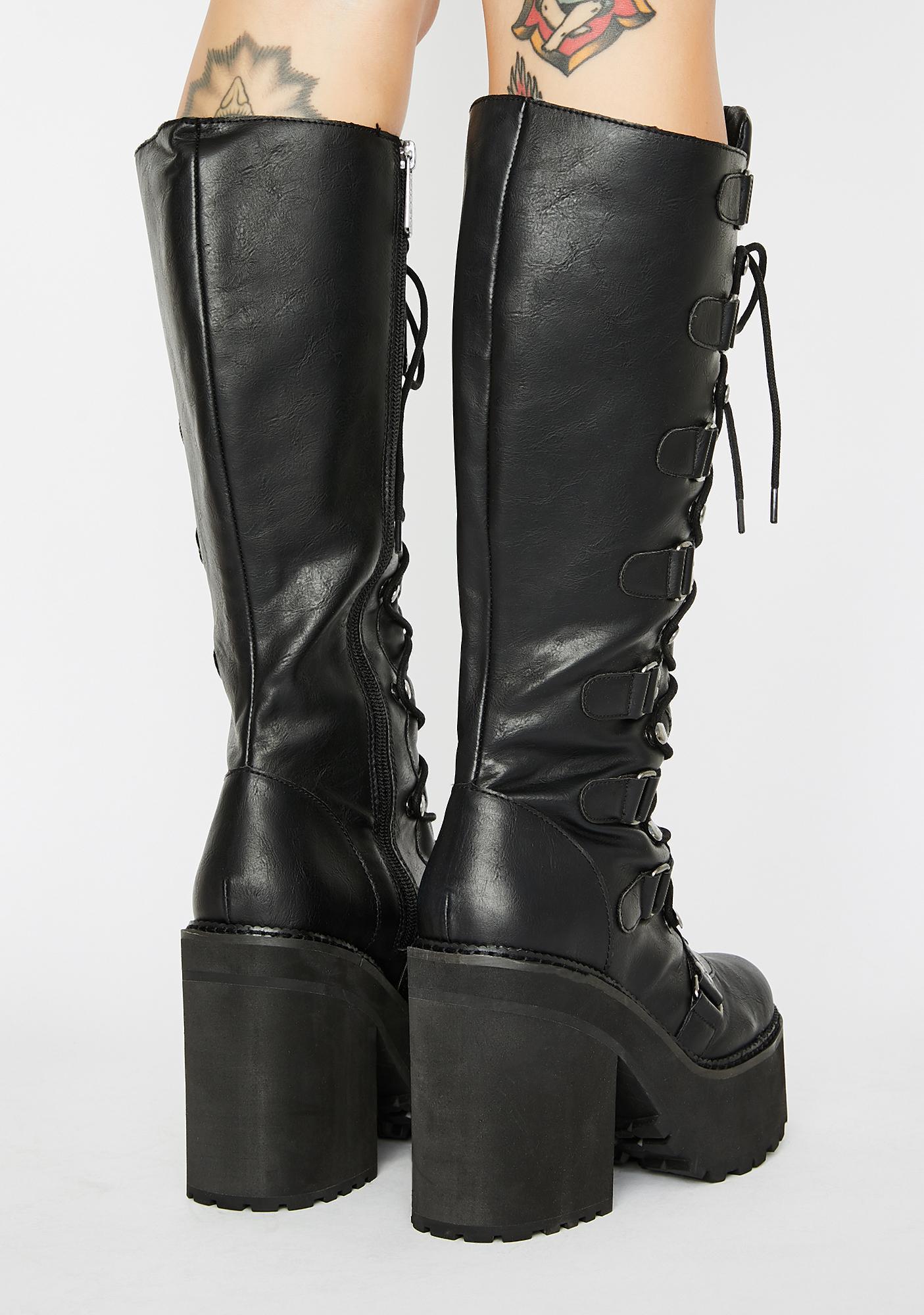 Killstar Selene Knee High Boots