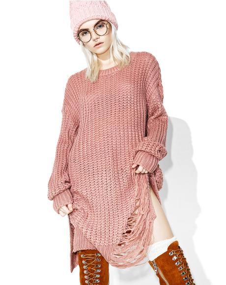Slashed N Trashed Sweater Dress