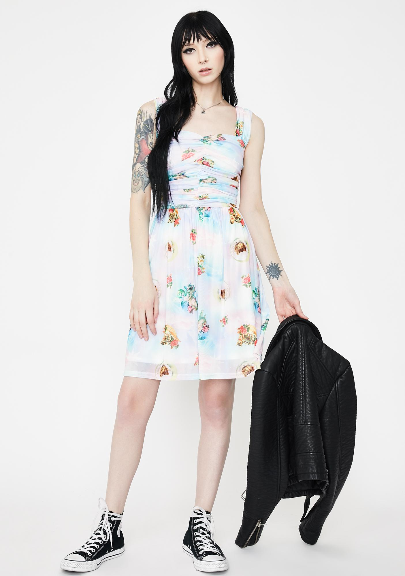 Jawbreaker Cherub Cat Chiffon Skater Dress