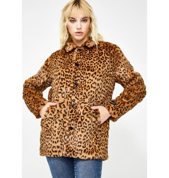 Obey Vacant Faux Fur Jacket