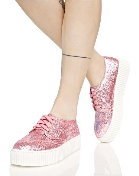 Pink Sparkle Sneakers