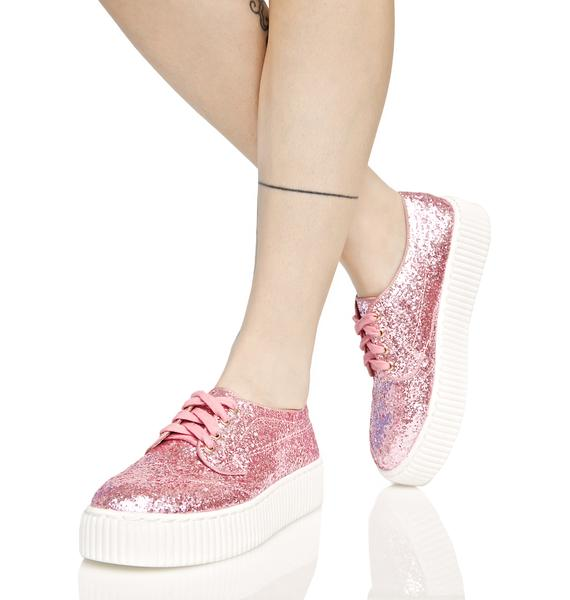 Shellys London Pink Sparkle Sneakers