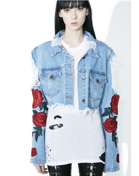 Desert Rose Distressed Jacket