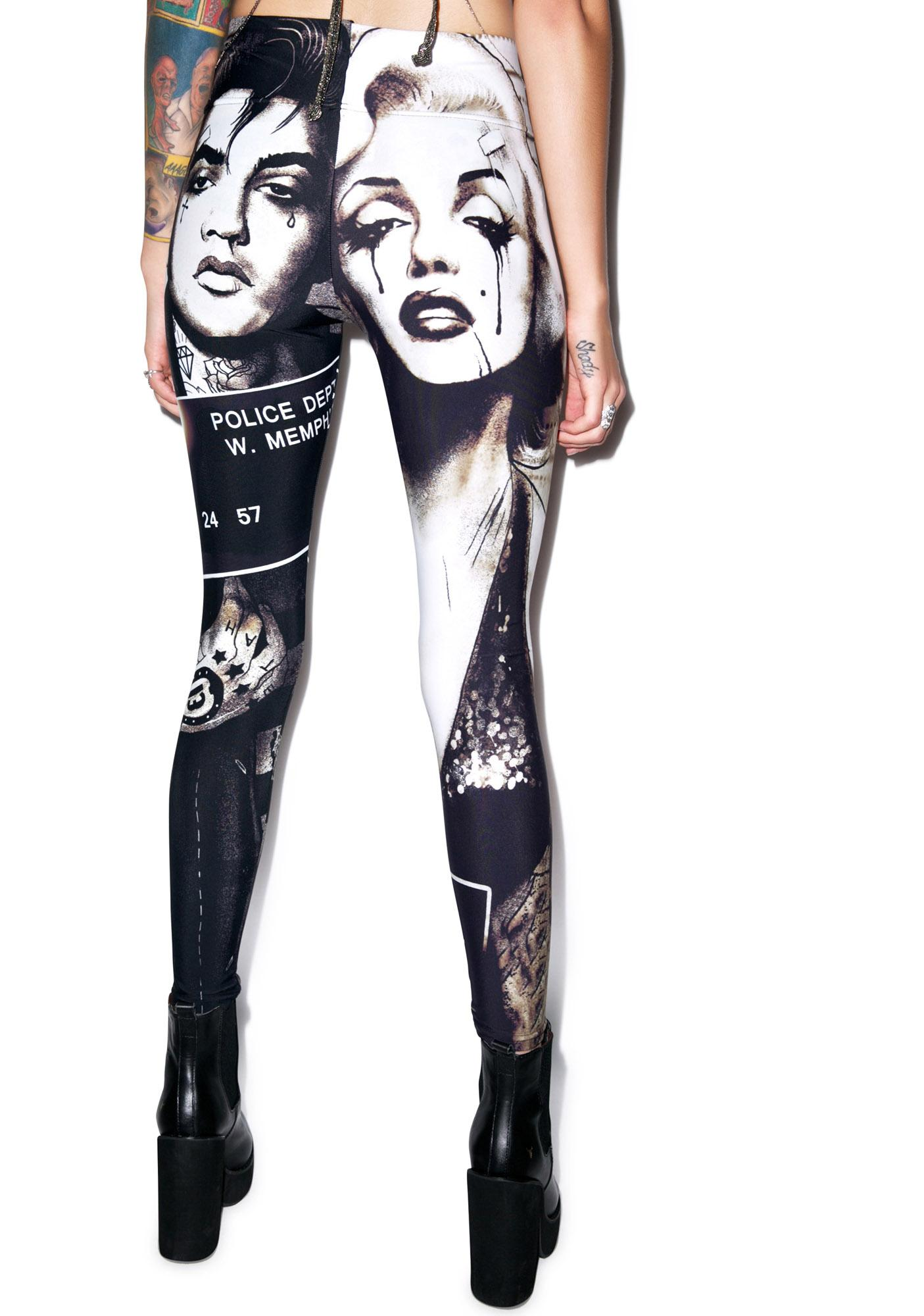 Too Fast Marylin and Elvis Lexy Leggings