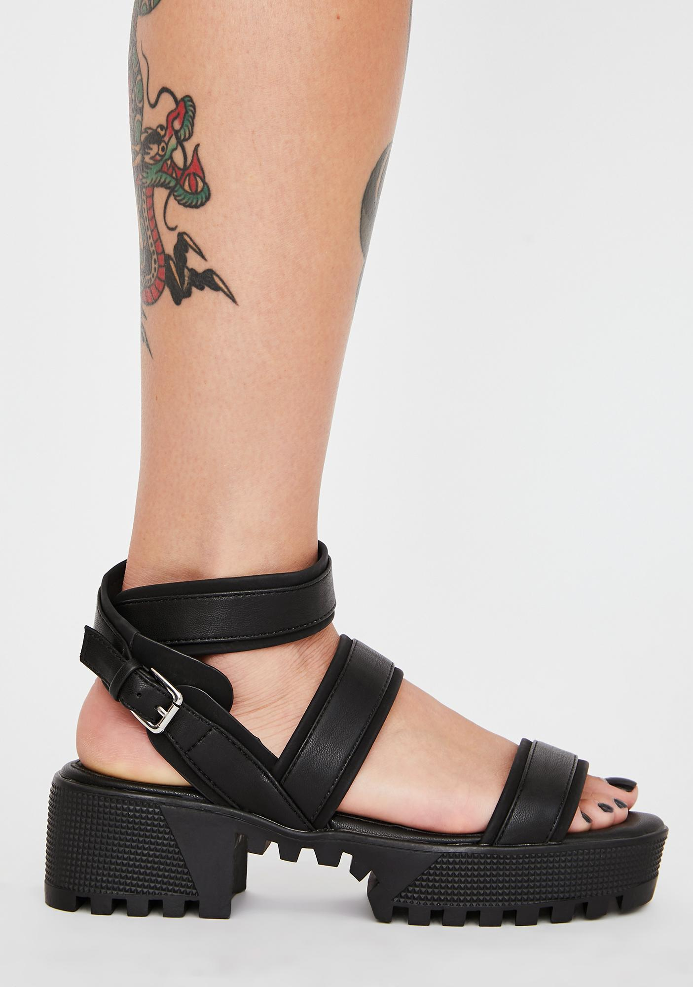 Midnight Play Grl Platform Sandals