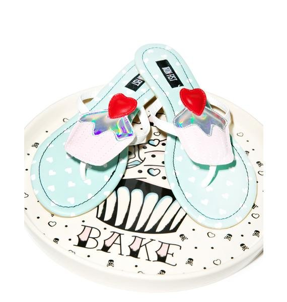 Iron Fist Ghastly Heart Sandals