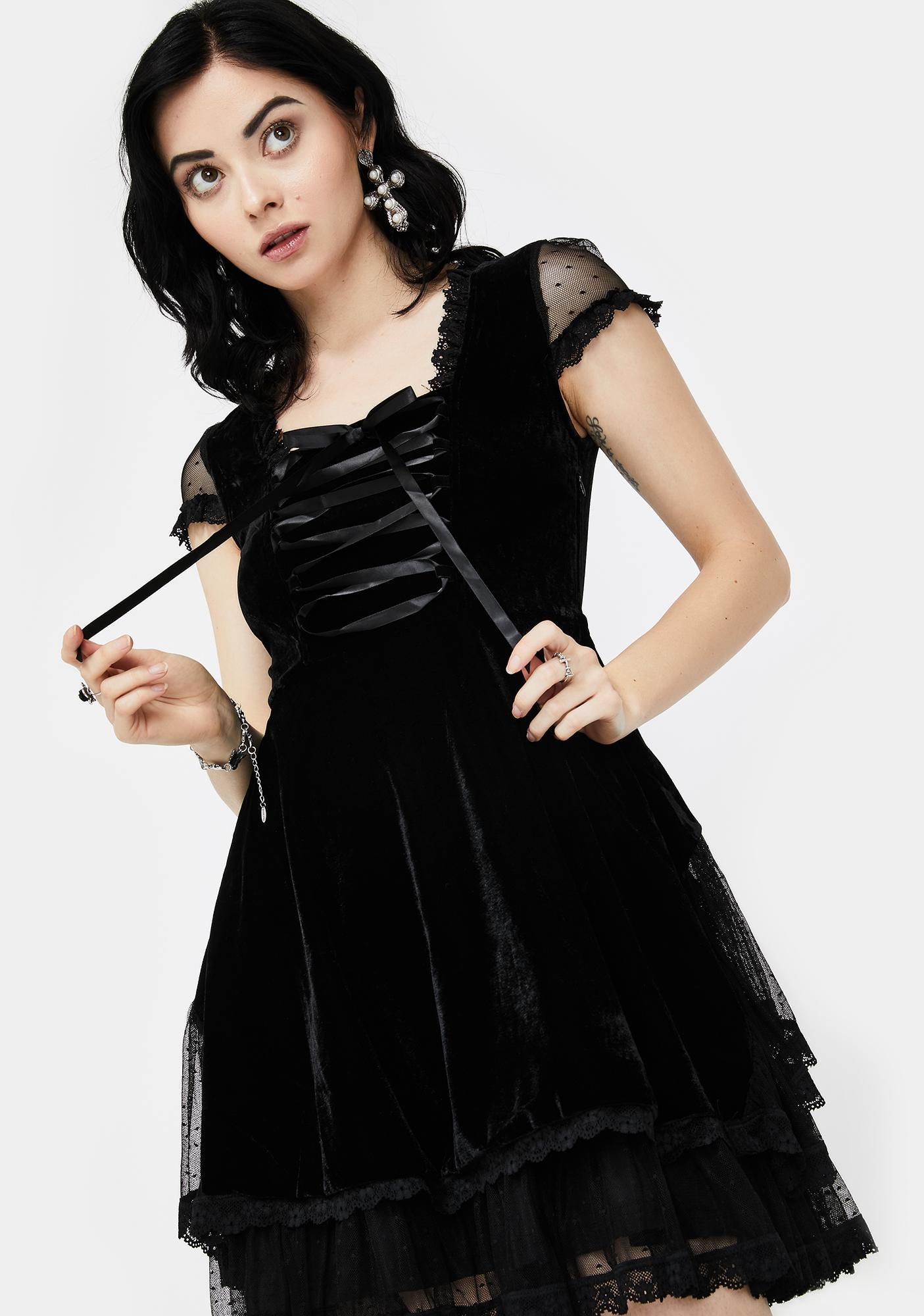 Killstar Delora Velvet Dress