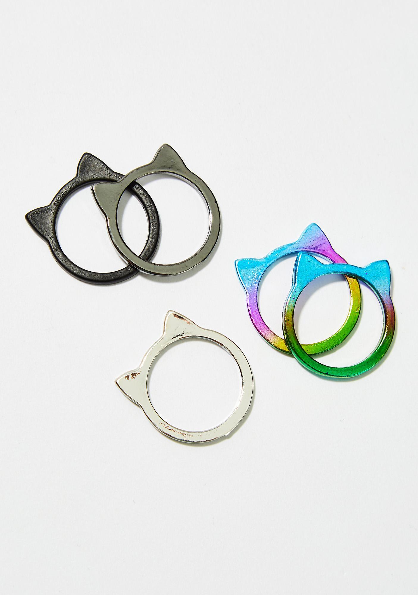 Kitty Cat Club Ring Set