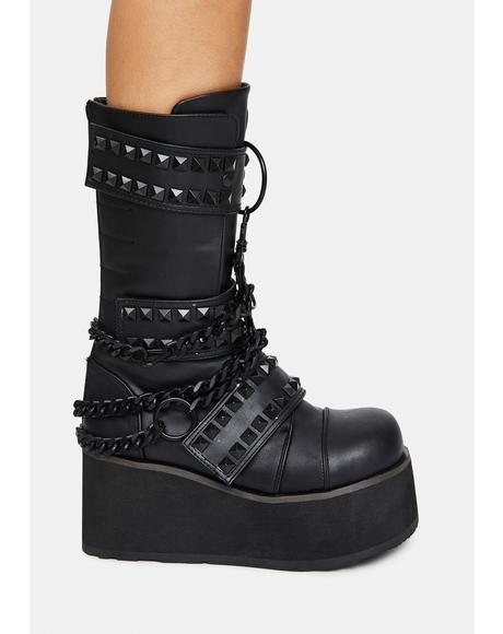 Watch Yourself Studded Platform Boots
