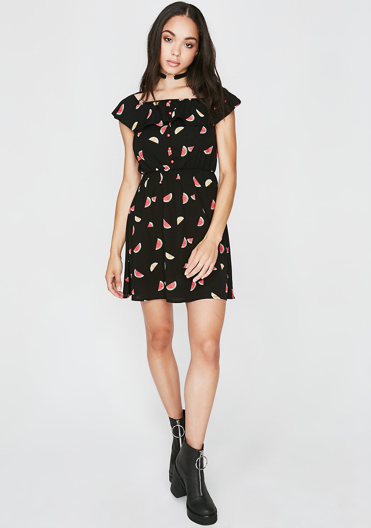 Fresh Bite Watermelon Dress
