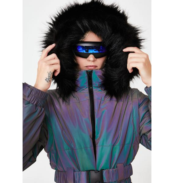 Replay Vintage Sunglasses Onyx Revo Shield Sunglasses