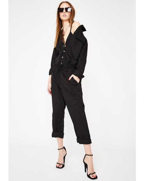 I'm Busy L8r Cargo Jumpsuit
