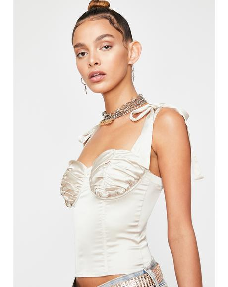 Champagne Boo'd Up Bustier Top