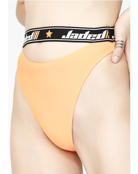 Jaded Elastic Thong Cut Out Bottoms