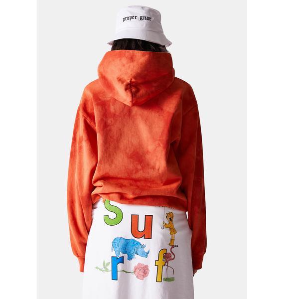 Surf is Dead Sid Logo Tie Dye Hoodie