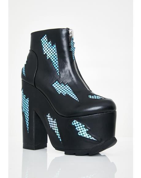 Nightmare Bolt Platform Boots