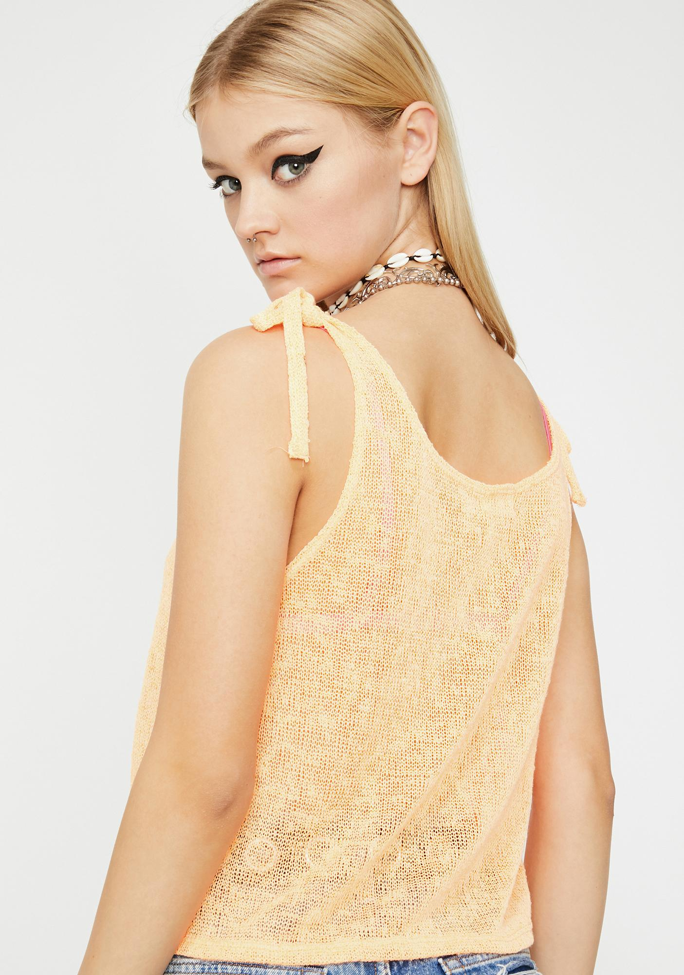 Vibrant Summer Sunset Knit Tank