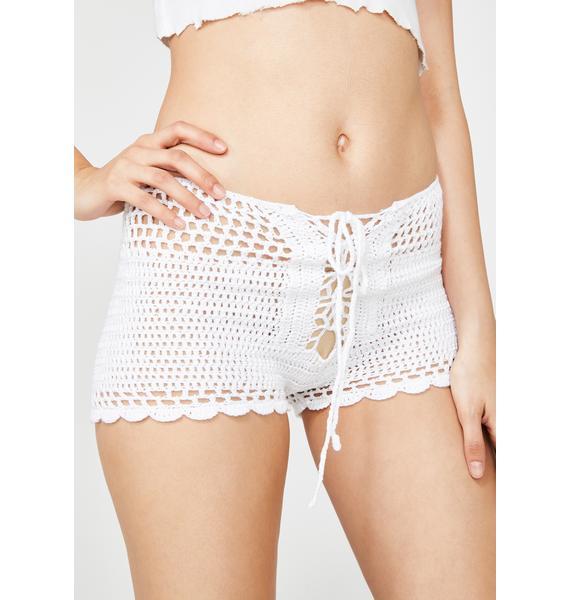 Pure Dusty Daze Crochet Shorts