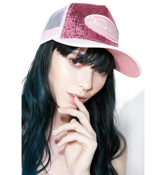Von Dutch Pink Sparkle Hat
