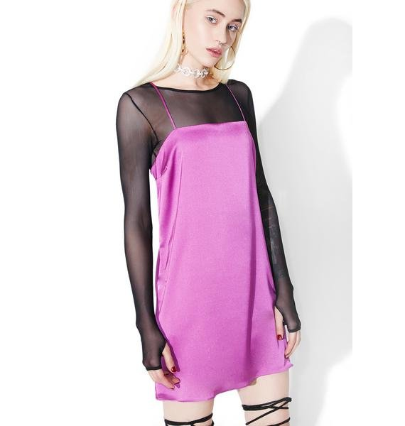 Orchid Slippin' My Mind Slip Dress