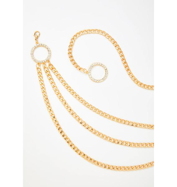 Champagne & Caviar Chain Belt